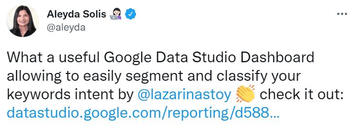 Google data studio dashboard for seo keyword research